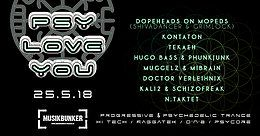 Party Flyer PSY LOVE YOU 25 May '18, 23:00