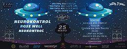 Party Flyer RHYTHM RAVE Fest I NEUROKONTROL (Fra) AstroFoniK & Ovni Records 25 May '18, 21:00