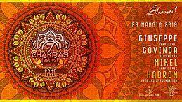 Party Flyer ॐ Śhānti! 7 Chakras Festival Warm up Rome ॐ 26 May '18, 22:00