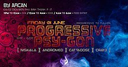Party Flyer Progressive Psy-Gon 1 Jun '18, 23:00