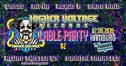 Party Flyer Higher Voltage Records Label Party II 2 Jun '18, 22:00