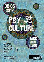 Party Flyer PsyCulture #5 ( Bass gegen Hass ) 2 Jun '18, 21:00