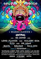Party Flyer Sevilla en Trance < Cierre Temporada> Sala Cosmos / 02-06-18 2 Jun '18, 23:30