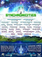 Party Flyer Synchronicities 8 Jun '18, 16:00
