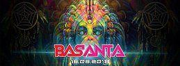 Party Flyer ॐ Basanta w/ Ranji | Blue Tunes ॐ 16 Jun '18, 23:00