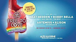 Party Flyer Free to Love - Pride Edition 16 Jun '18, 23:00