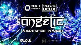 Party Flyer Pzychedelix at Glow ॐ I The Angelic 17 Jun '18, 21:30