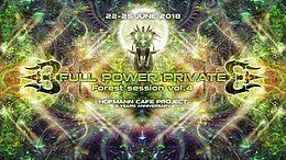 Party Flyer Full Power Private Forest Session vol.4. & 5 years Hofmann Cafe 22 Jun '18, 22:00