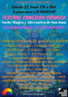 Party Flyer Festival Conexión Cósmica, Summer Solstice, Noche Mágica San Juan, The Feminine 23 Jun '18, 17:00