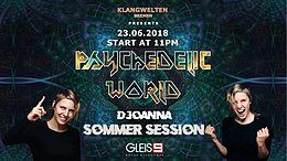 Party Flyer Psychedelic World I D Joanna I (GOA) proggy - Hitech 23 Jun '18, 23:00