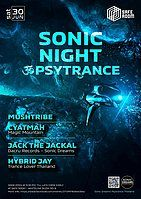Party Flyer Sonic Night ॐ Psytrance at Safe Room 30 Jun '18, 21:30