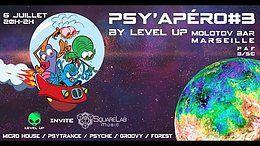 Party Flyer Psy'Apero #3: Level Up invite Square Lab Music @Le Molotov Bar 6 Jul '18, 20:00