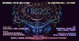Party Flyer Dionysia with Kerlivin, Morrieo, Tadayan Digital Shiva Power 7 Jul '18, 22:00