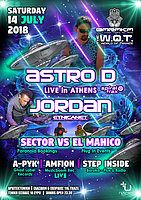 Party Flyer Astro-D Live Athens & Jordan (EtnicaNet) & Sector VS El Mahico! 14 Jul '18, 23:30