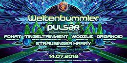 Party Flyer Weltenbummler with Pulsar (live) 14 Jul '18, 23:00