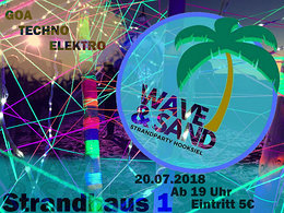 Party Flyer WAVE & SAND the 4th 20 Jul '18, 19:00