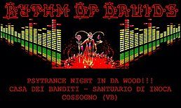 Party Flyer Rythm Of Druids // Psytrance Night In Da Wood // Open Air 21 Jul '18, 20:00
