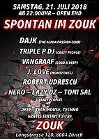 Party Flyer SPONTAN IM ZOUK 21 Jul '18, 22:00