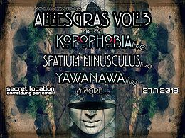Party Flyer AllesGras vol. 3 w/ Kopophobia & Spatium Minusculus 27 Jul '18, 22:00