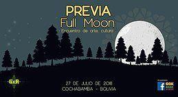 Party Flyer Full moon dance, PREVIA 27 Jul '18, 15:00