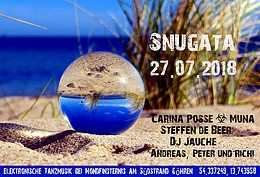 Party Flyer Snugata Strandparty 27 Jul '18, 17:00