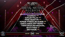 Party Flyer The Darkpsy of The Force presents Digital Natives Records Label Night 28 Jul '18, 23:30