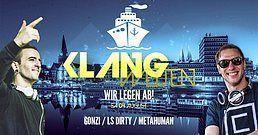Party Flyer KLangwelten wir legen ab / Boot Party 4 Aug '18, 20:30