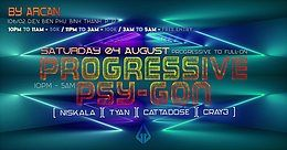 Party Flyer Progressive Psy-Gon 4 Aug '18, 22:00