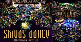 Party Flyer Psybox - Shivas Dance with Morten Granau - Static Movement - Impulser - Recycle 10 Aug '18, 22:00