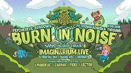 Party Flyer Burn in Noise Live! 11 Aug '18, 20:00