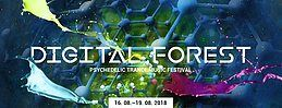 Party Flyer Digital Forest - Psychedelic Trance Music Festival 2018 16 Aug '18, 22:00