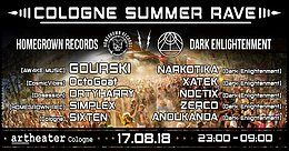 Party Flyer Cologne Summer Rave: Homegrown Records vs. Dark Enlightenment 17 Aug '18, 23:00