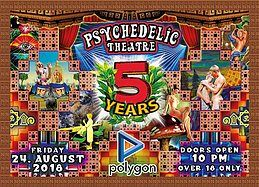 Party Flyer Psychedelic Theatre - 5 Years Birthday Party ๑۩۞۩๑ 24 Aug '18, 22:00