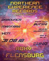 Party Flyer GOA Northern Experience Records Label Night 31 Aug '18, 23:30