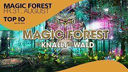 Party Flyer MAGIC FOREST Es knallt im Wald / w Captain Hook, Spinney Lainey, ... 31 Aug '18, 22:00