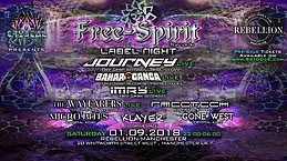 Party Flyer Free-Spirit Records Label Night 1 Sep '18, 22:00