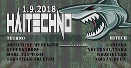 Party Flyer Hitech!! & Techno im Velvet Monkeys 1 Sep '18, 23:00