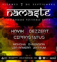 Party Flyer Namaste Undergroud Psytrance Party 7 Sep '18, 23:30