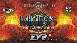 Party Flyer MIMESIS | Psy-Trance Open Air Gathering w/ EVP 8 Sep '18, 22:00