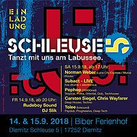 Party Flyer SCHLEUSE 5 14 Sep '18, 20:00