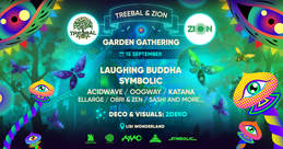 Party Flyer TREEBAL & ZION: GARDEN GATHERING at LISI WONDERLAND 15 Sep '18, 17:00