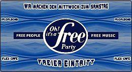 Party Flyer Oh It's a Free Party - Freier Eintritt - im FLEX Cafe 19 Sep '18, 22:30