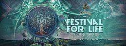 """Party Flyer The Psychedelic Way """" Festival for life """"North Italy 20 Sep '18, 22:00"""