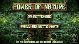 Party Flyer ✧ Power of Nature ✧ 22 Sep '18, 17:00