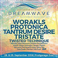 "Party Flyer Dreamwave ""goldener Herbst"" Postgaragen Festival 28 Sep '18, 22:00"