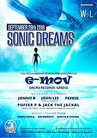 Party Flyer Sonic Dreams with E-Mov 29 Sep '18, 20:00