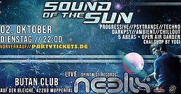 Party Flyer Sound of the Sun / Indoor Festival / 5 Areas / Neelix Live uvm. 2 Oct '18, 22:00