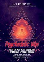 Party Flyer Psychedelic VIBE w/ Bizzare Contact, Royal Flush & friends 6 Oct '18, 23:00