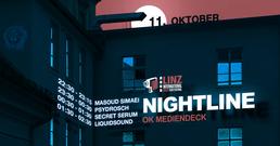 Party Flyer Psychedelic Animals present: Nightline #1 Linz International Short Film Festival 11 Oct '18, 22:00