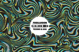 Party Flyer FUSI ॐ Techno & Goa w/ INFRA [Live + DJ Set] 12 Oct '18, 23:00